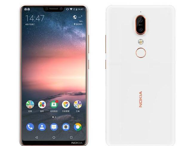 Nokia X6 price and specification showing an iPhone X-like notch and a dual rear-camera setup.