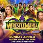 Wwe wrestlemania 2018 live update: brock lesnar vs roman reigns :WWE WrestleMania 34 matches, card, rumors, date, 2018 location, predictions