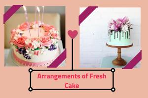 Arrangements of Fresh Photo Cake