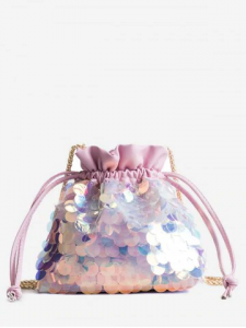 Fish scale sequins bucket bag
