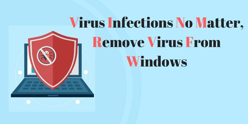 Computer Virus Infections No Matter, step by step guide to