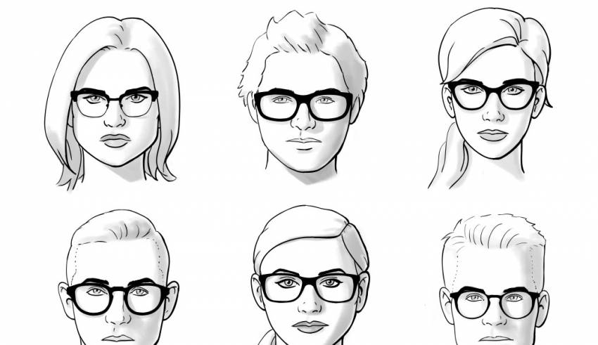 Perfect glasses for suitable face shape