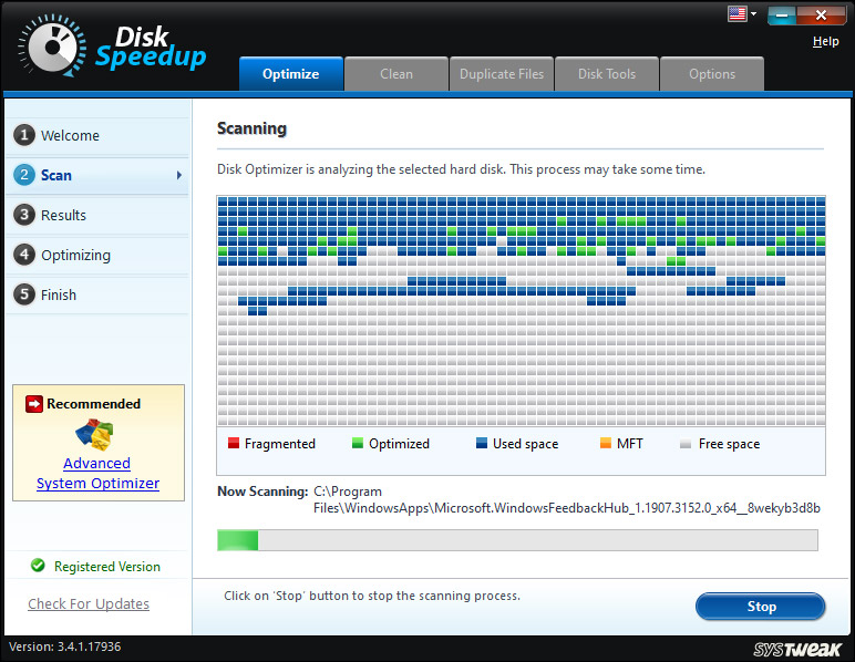 disk speed up optimize