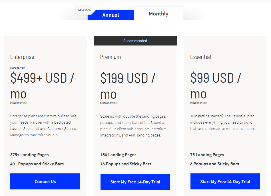 Unbounce Monthly