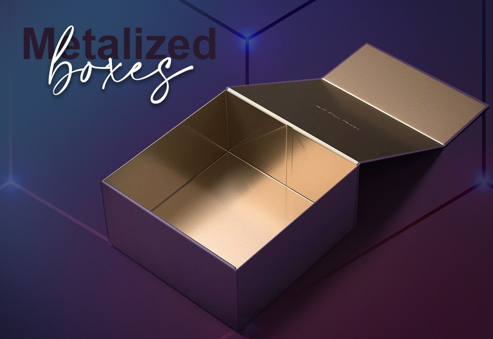 metalized boxes, metalized box, metalized packaging, wholesale metalizede boxes, metalized boxes wholesale, custom metalized boxes, custom metalized box,