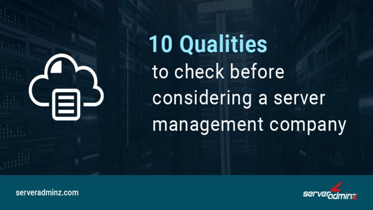 Server Management Service Provider