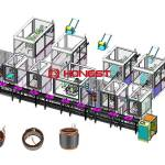 hairpin motor stator assembly line