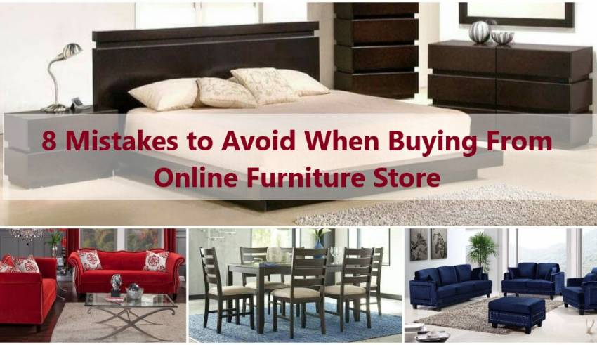 8 mistakes to avoid when buying from online furniture store