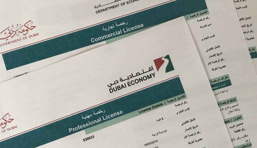Dubai Government Provides Commercial Activity Licenses And Registration