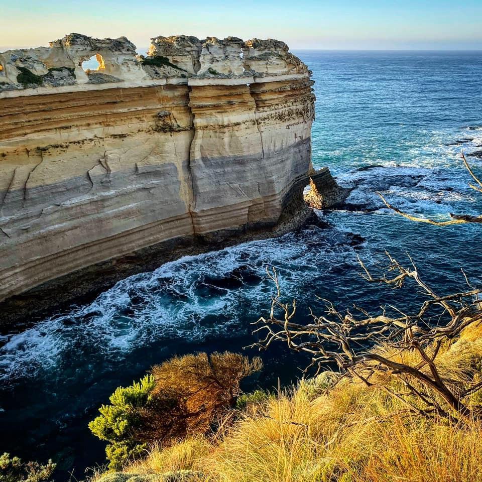 Magnificent cliffs of the Great Ocean Road, Australia