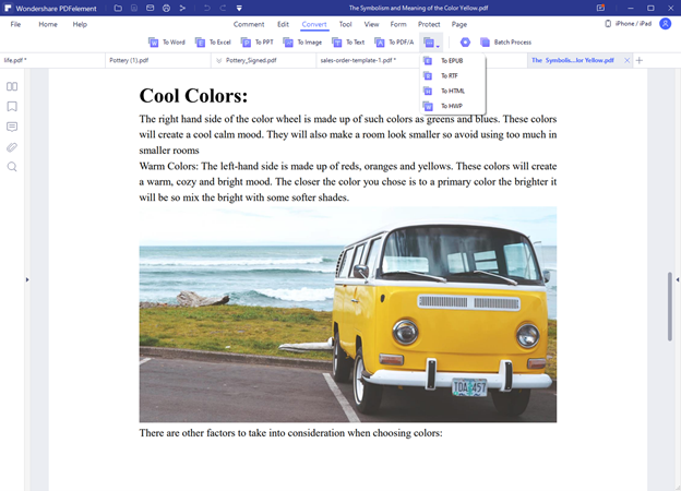 PDFelement File Conversion