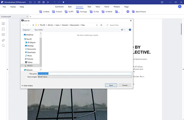 How to Convert PDF to Word, etc. in PDFelement