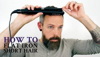 How to flat iron hair men