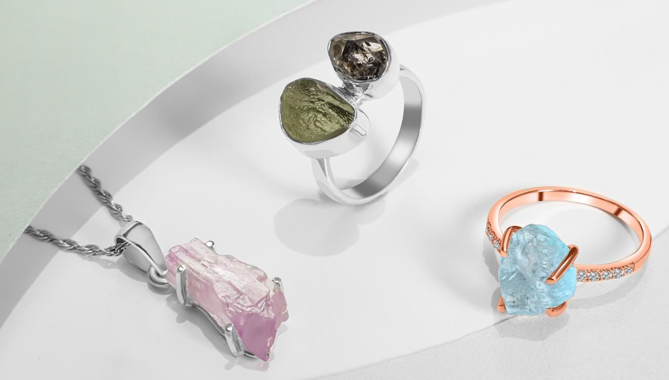 Raw Crystal Jewelry