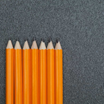 The scale of hardness of the pencils in the drawing