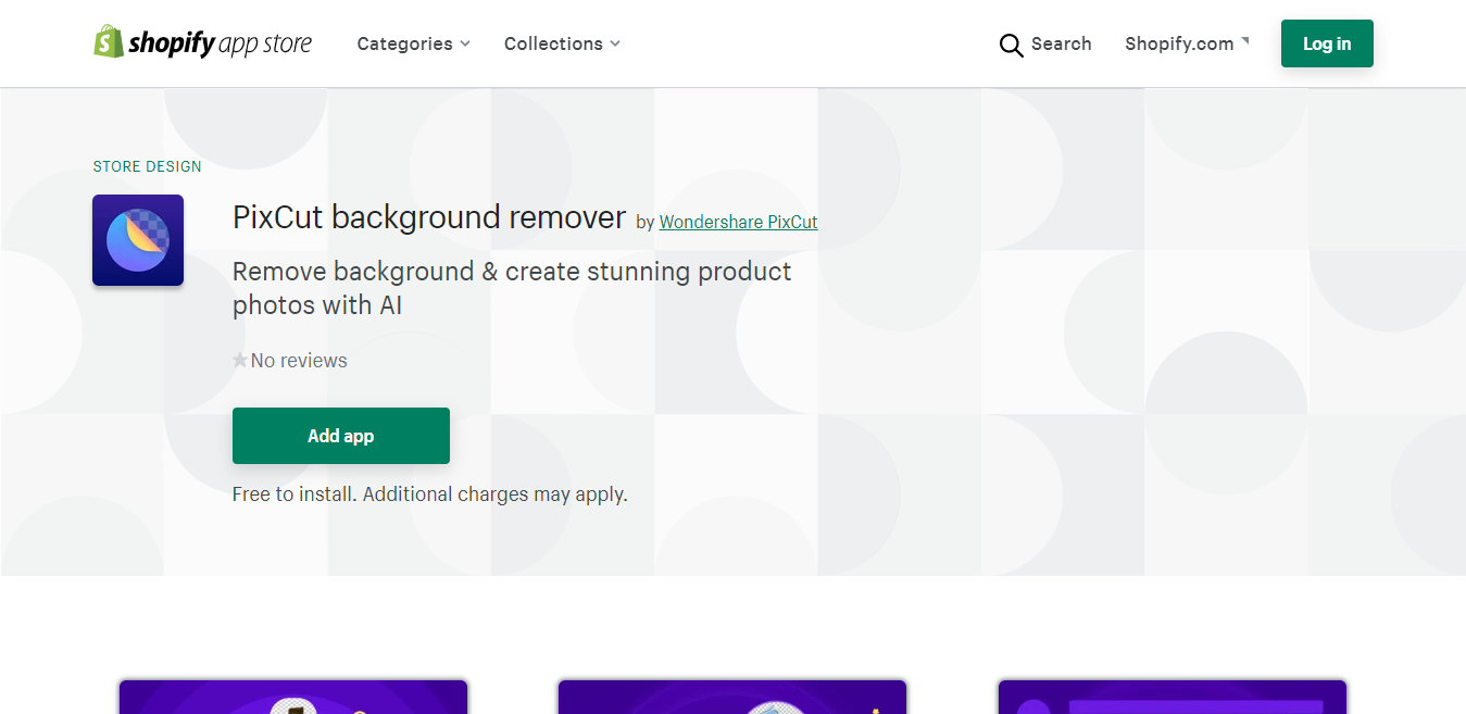 remove background on shopify