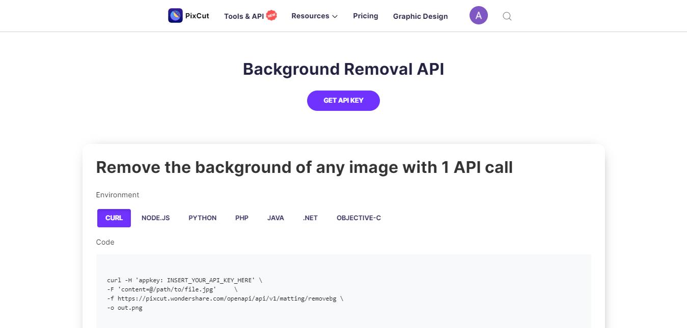 remove background api feature