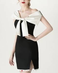 The off-shoulder dress
