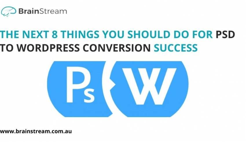 PSD To WordPress Conversion Success
